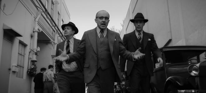 Gary Oldman as Herman Mankiewicz, Arliss Howard as Louis B. Mayer and Tom Pelphrey as Joe Mankiewicz - PHOTO COURTESY NETFLIX MEDIA