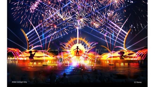 Concept art for the new Epcot nighttime spectacular, Harmonious - PHOTO VIA DISNEY PARKS BLOG