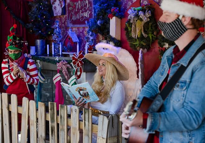 Savannah Boan tells a Christmas tale - PHOTO BY MATT KELLER LEHMAN