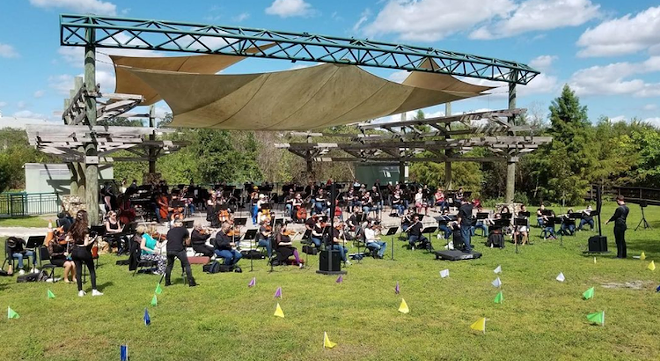 CFCArts Orchestra performing outdoors at Halloween this year - PHOTO COURTESY CFCARTS INSTAGRAM