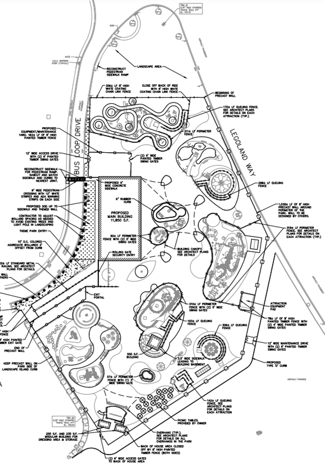 An overview of the proposed five-acre attraction heading to Legoland Florida - IMAGE VIA SOUTHWEST FLORIDA WATER MANAGEMENT DISTRICT | KIMLEY-HORN | MERLIN