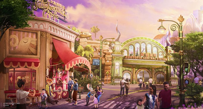 Shanghai Disneyland's upcoming Zootopia themed mini-land - IMAGE VIA DISNEY