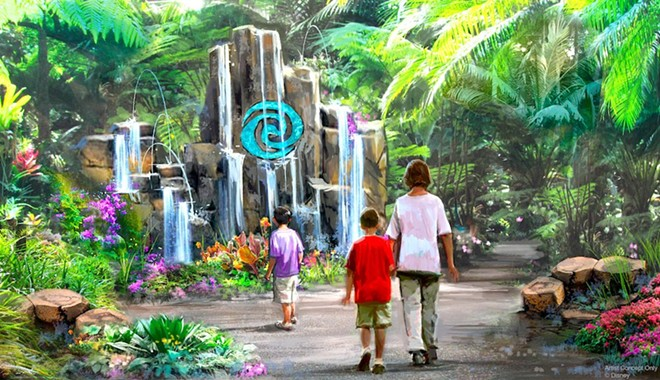 Epcot's new Moana-inspired water trail - CONCEPT ART VIA DISNEY / D23 TWITTER