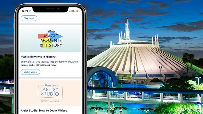 The Disney Parks official app now includes themed games, quick bite videos, and other entertainment designed to immerse guests into the parks. - IMAGE VIA DISNEY