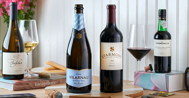 Some of the wines featured in American Airlines' Flagship Cellars program - IMAGE VIA AMERICAN AIRLINES
