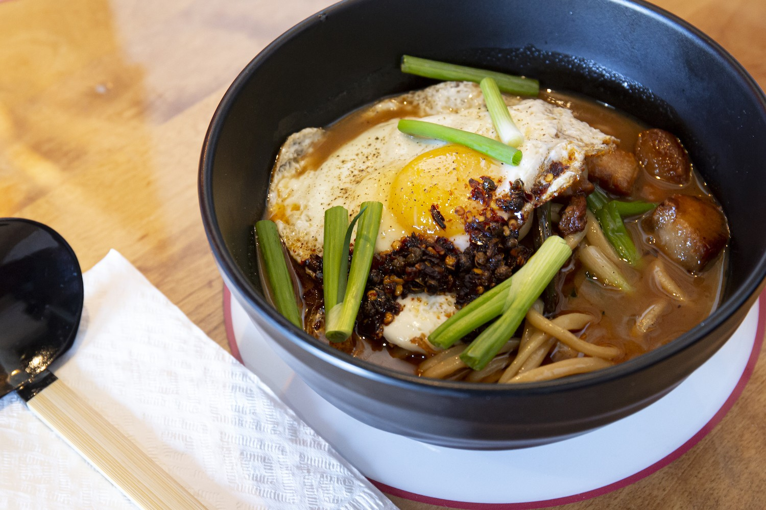 The Kingpin noodle bowl from Orlando Meats - PHOTO BY ROB BARTLETT