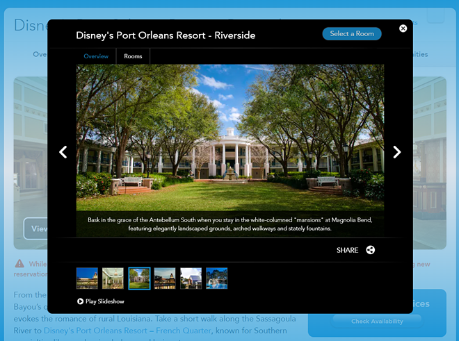 A screenshot taken in February 2021 showing Disney still marketing the Port Orleans resort with questionable phraseology. - IMAGE VIA DISNEY