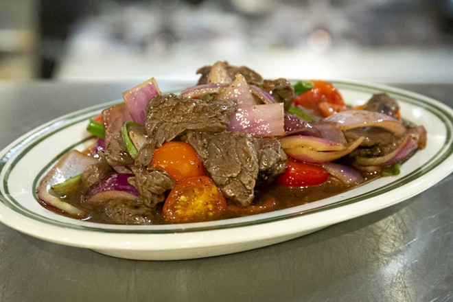 Lomo saltado - PHOTO BY ROB BARTLETT