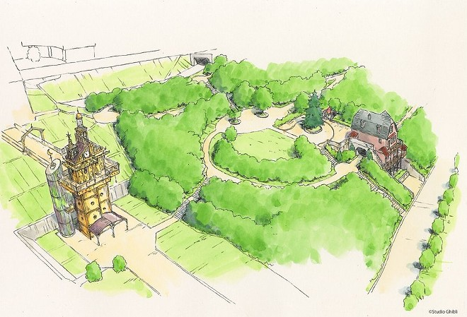 """The Youth Hill area of Ghibli Park. Aichi's Governor Omura explains this area will """"welcome and guide visitors."""" - IMAGE VIA HIDEAKI OMURA 