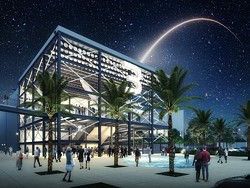 Carnival's new $163 million space travel-themed Terminal 3 at Port Canaveral - IMAGE VIA PORT CANAVERAL