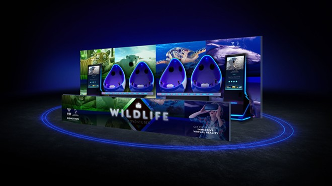 A four person VR pod typical of the type used in many aquariums and zoos - IMAGE VIA IMMOTION
