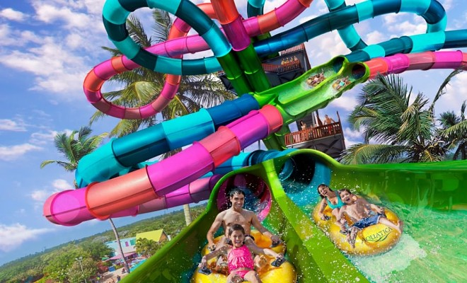 The new Riptide Race waterslide will open at Aquatica on April 3. - PHOTO VIA SEAWORLD