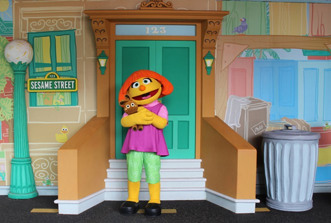 Julia is a 4-year-old muppet with autism. She was added to the 'Sesame Street' cast in 2015. - PHOTO VIA SEAWORLD