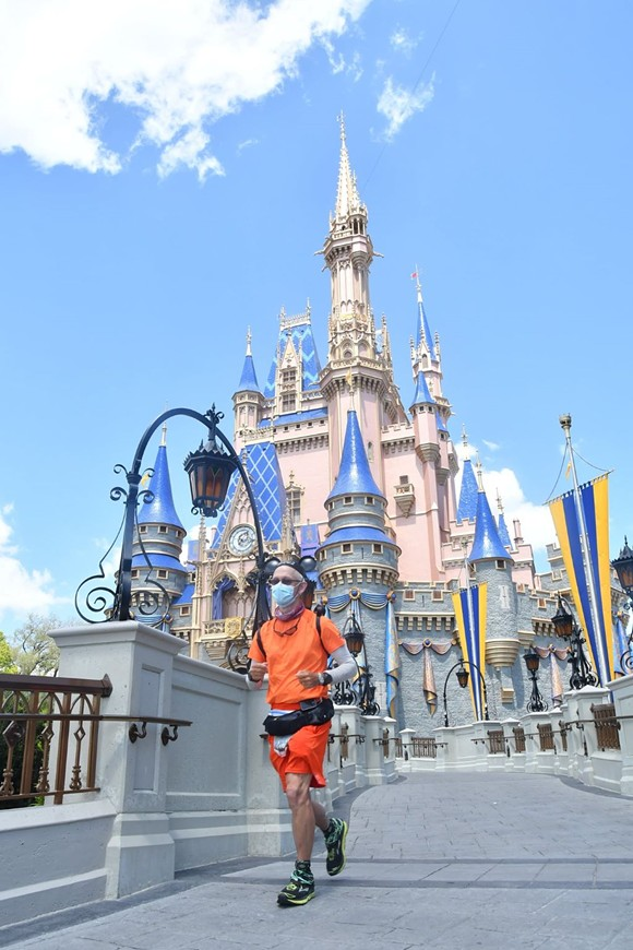 Muchow finishes final stretch of his run to Walt Disney World - COURTESY OF DON MUCHOW VIA FACEBOOK