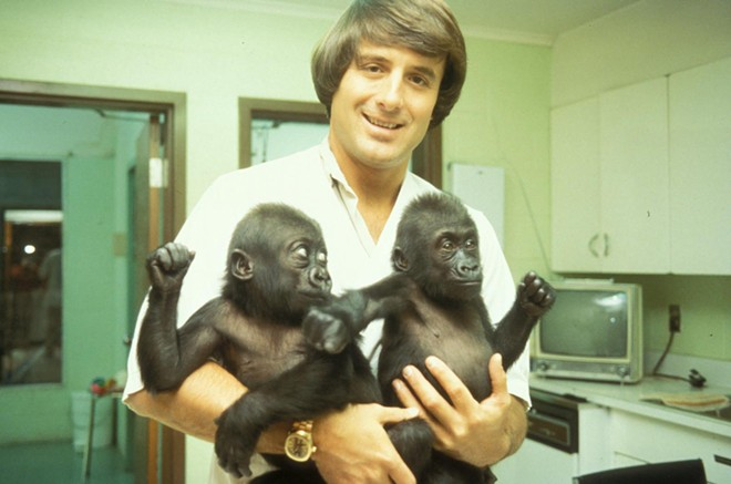 Jack Hanna with the two gorillas that launched his career in television - IMAGE JUNGLE JACK HANNA | FACEBOOK