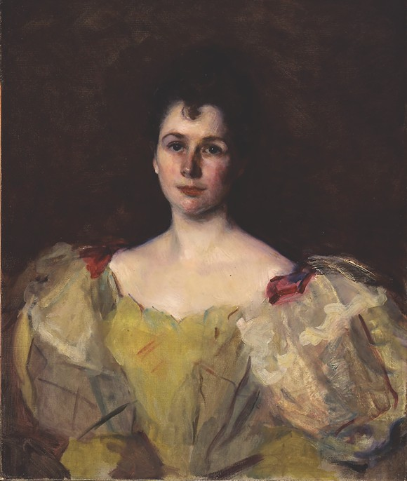 Portrait of Mrs. Henry LaBarre Jayne, 1895. Oil on canvas, Cecilia Beaux, American, 1855–1942; 32 × 26 1/2 in. (P-072-93). - COURTESY OF THE CHARLES HOSMER MORSE MUSEUM OF AMERICAN ART, WINTER PARK, FL.