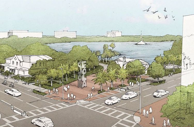 A proposed park extension for Lake Eola using land purchased by the Orlando Land Trust - PHOTO COURTESY THE PEOPLE'S LAKE/INSTAGRAM