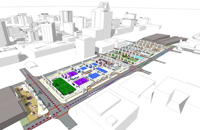 The Under-I park proposed for downtown Orlando - ILLUSTRATION COURTESY OF THE CITY OF ORLANDO