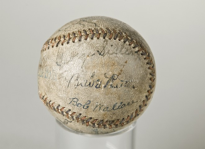 Baseball signed by Cobb, Gehrig, Ruth - PHOTO COURTESY MORSE MUSEUM