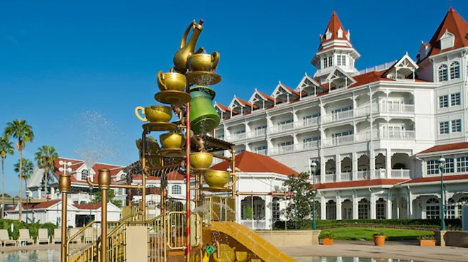 The water play area outside of The Grand Floridian's DVC wing - IMAGE VIA DISNEY