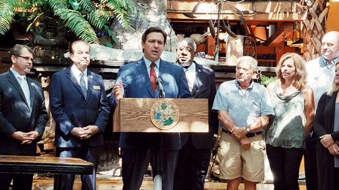 Florida Gov. Ron DeSantis nixed two line items from the state budget that would have provided for Pulse shooting survivors, LGBT youth. - PHOTO VIA TWITTER/RON DESANTIS