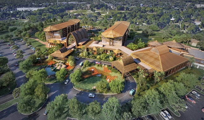 A previously proposed Africa-themed hotel at Busch Gardens Tampa. The concept was developed by Hetzel Design. - IMAGE VIA EXPEDITION THEME PARK | TWITTER