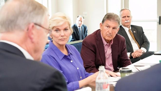 Joe Manchin continues to gum up the works on Democrats' key issues. - PHOTO VIA TWITTER/JOE MANCHIN