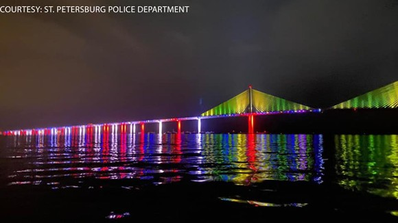 Florida is moving against Pride displays on state bridges. - COURTESY OF ST. PETERSBURG POLICE DEPARTMENT