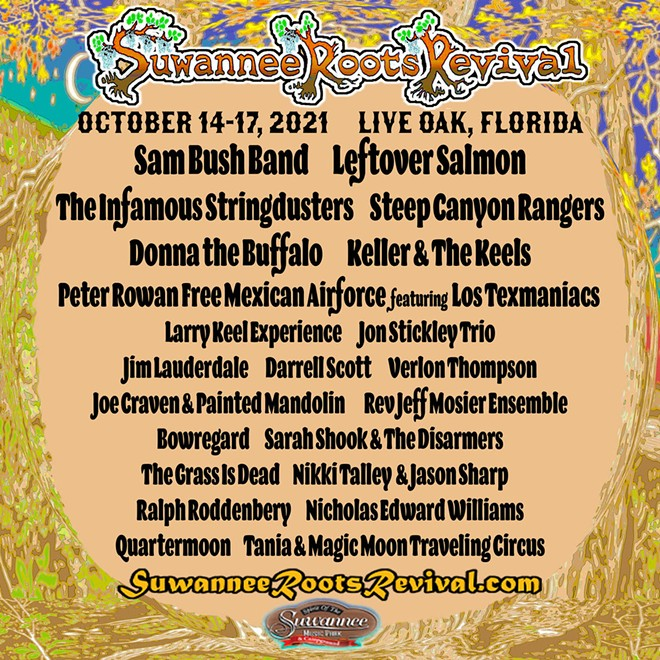 The Suwannee Roots Revival will return to Live Oak from Ocrober 14-17. - POSTER VIA SUWANNEE ROOTS REVIVAL