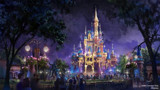 Concept art for Magic Kingdom's Beacons of Light nighttime show - IMAGE VIA DISNEY