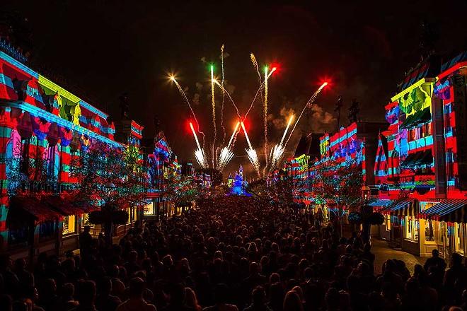 Disneyland Forever nighttime spectacular at Disneyland in California. - IMAGE VIA DISNEY