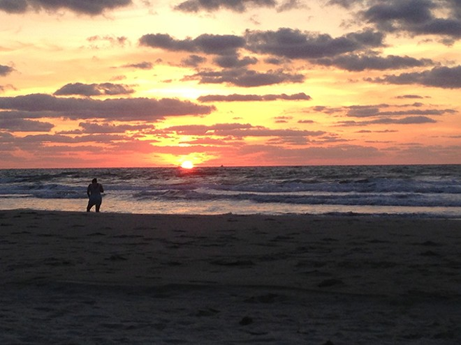 Cocoa Beach at sunrise. - PHOTO BY BILLY MANES