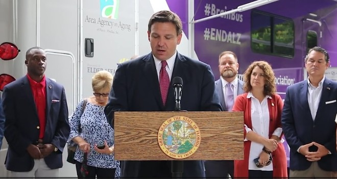 Florida governor Ron DeSantis killed a controversial plan to expand Florida's toll road system. - SCREENSHOT VIA TWITTER/RON DESANTIS