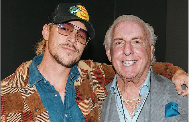 Diplo on left, sadly Ric Flair not included. - PHOTO COURTESY DIPLO/INSTAGRAM