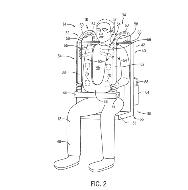 Based on a 2017 study from the NCBI, the airflow in the face of riders was the most successful at offsetting the symptoms of motion sickness. - VIA PATENT SCOPE/ WEBSITE