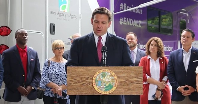 A GOP-backed initiative to limit contributions to Florida ballot initiatives was blocked by a federal judge. - SCREENSHOT VIA TWITTER/RON DESANTIS