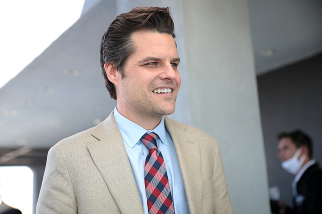 Matt Gaetz's 'America First' rally was shown the door by a California event venue after they learned of his involvement. - PHOTO VIA FLICKR/GAGE SKIDMORE