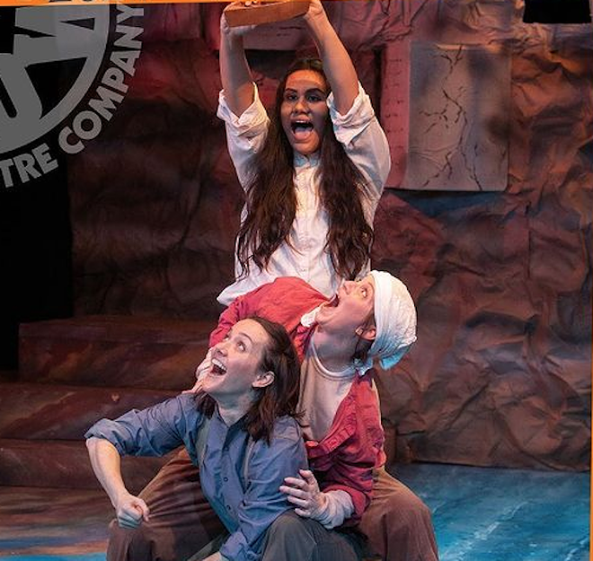 Mad Cow players giving it their all - PHOTO COURTESY MAD COW THEATRE/INSTAGRAM