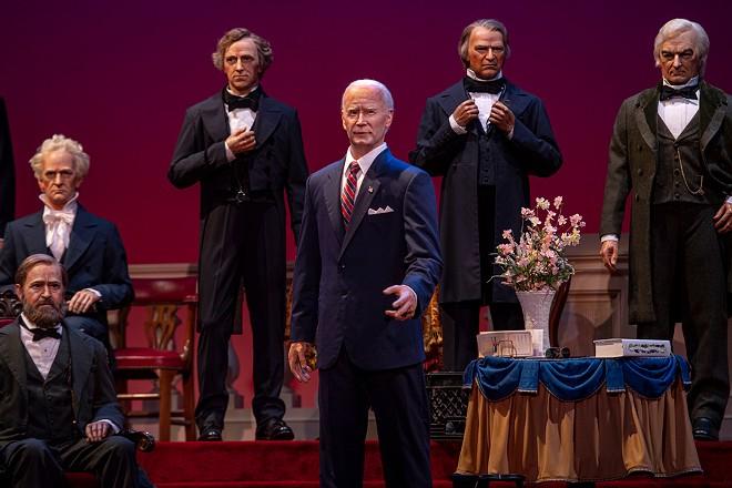 Joe Biden's presidential animatronic has been added to the Hall of Presidents. - PHOTO VIA DISNEY
