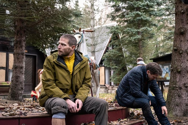 Five guys on a hiking trip discover they're being hunted like animals in 'Prey' - PHOTO COURTESY OF NETFLIX