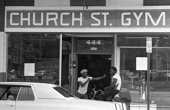 A  boxing gym on Church Street in 1981. - COURTESY OF SNAP! ORLANDO