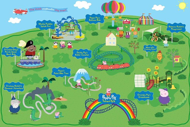 A map of the planned attractions for Legoland's Peppa Pig Theme Park. - PHOTO VIA PEPPA PIG THEME PARK