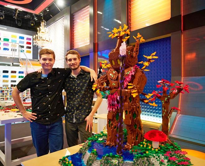 Mark and Steven Erickson of Atlanta, GA with their LEGO Masters finale build - IMAGE VIA FOX | LEGOLAND FLORIDA | FACEBOOK
