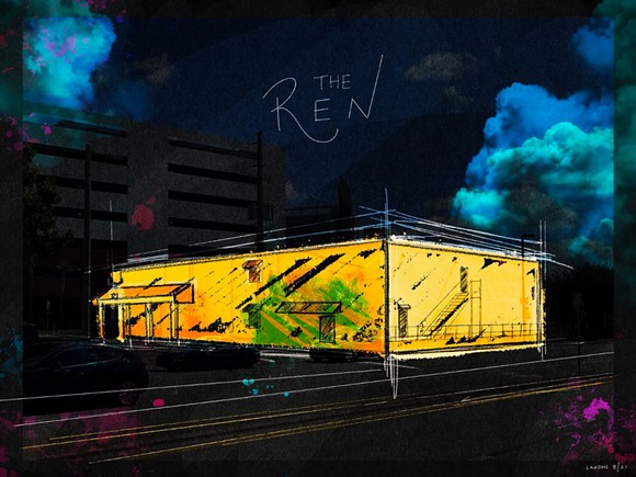 An illustration of the planned theater that will host the RTC. - ILLUSTRATION BY LANDON ST. GORDON