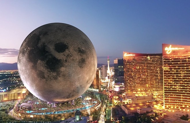 Concept art of a proposed Moon themed resort in Las Vegas - IMAGE VIA MOON RESORTS WORLD
