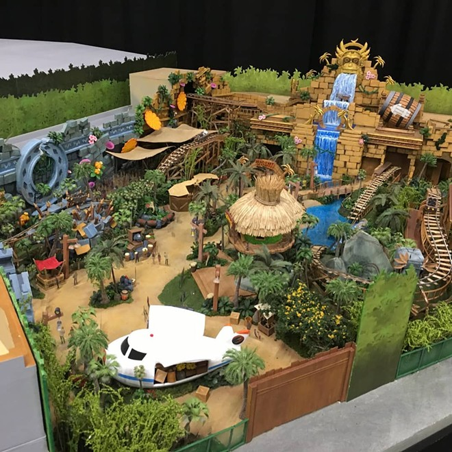Images leaked in 2019 of a Donkey Kong themed area. The land is now confirmed by Universal. - THE UNOFFICIAL UNIVERSAL ORLANDO PODCAST | FACEBOOK