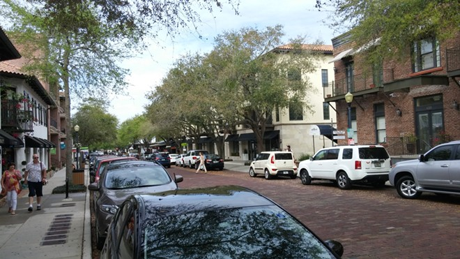 Hannibal Square in Winter Park offers multiple housing options with many streets, such as this section on New England Ave, featuring recent in-fill development that helps the area become more walkable. - IMAGE VIA KEN STOREY
