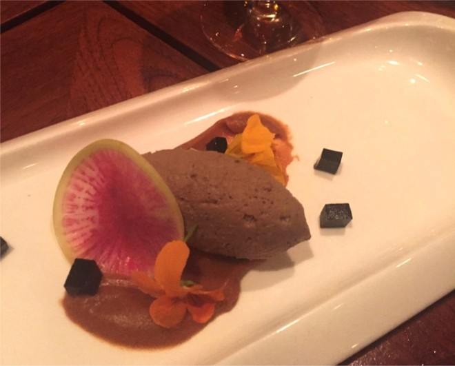 Veal liver mousse | apple marmellata | balsamic gelatin (paired with Antinori Vermentino)