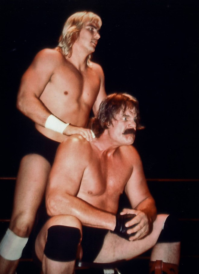 Barry Windham and Blackjack Mulligan - PHOTO BY DUANE LONG