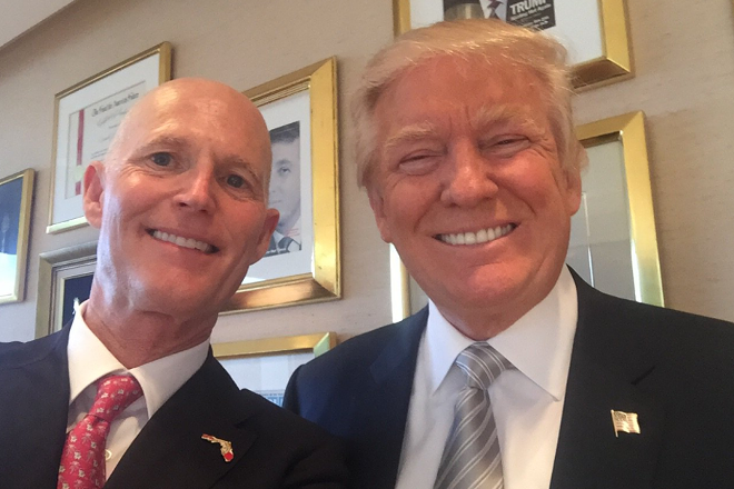 Just two business outsiders draining the swamp. - PHOTO VIA RICK SCOTT/TWITTER